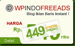 WpIndoFreeAds, Web Instant Iklan Baris Gratis Berbasis Wordpress