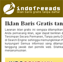 Template IndoFreeAds - Website Instant Iklan Baris D3