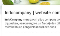 Fitur web instant Indocompany
