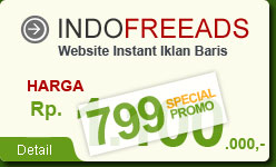 IndoFreeAds - Website Instant Iklan Baris
