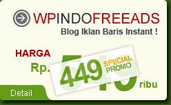 WpIndoFreeAds, Web Instant Iklan Baris Gratis Berbasis Wordpress